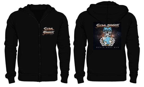 Official Suicidal Tendencies - World Gone Mad Zip Up Hoodie *FREE SHIPPING*