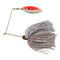 JB Lures Pro-Lazer Spinnerbait 1/4 oz / White/Red Tinsel Hard Baits