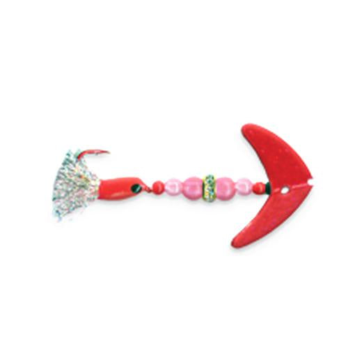 Mack's Lure Wedding Ring Pro-Glo Spinner with Smile Blade Pink Sparkle/Ruby-Pink Hard Baits