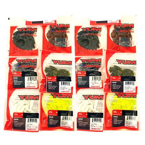 "Yum 2"" Grub 12 Piece Assortment Soft Baits"