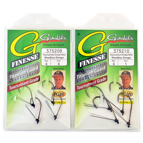Gamakatsu G-Finesse Weedless Stinger Hooks 2 Piece Assortment Terminal Tackle