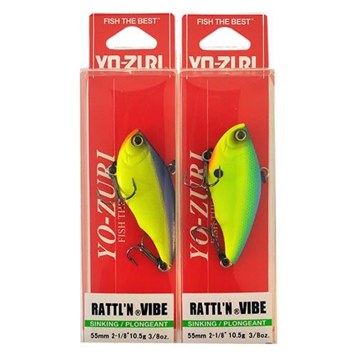 "Yo-Zuri 2-1/8"" Rattl'n Vibe 2 Piece Assortment Sets & Bundles"