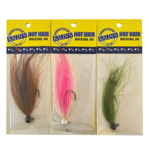 Kalin's 3/32 oz Hot Hair Jig 3 Piece Assortment Sets & Bundles