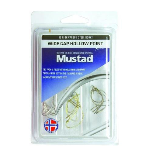 Mustad Wide Gap Hollow Point Hook Kit Terminal Tackle