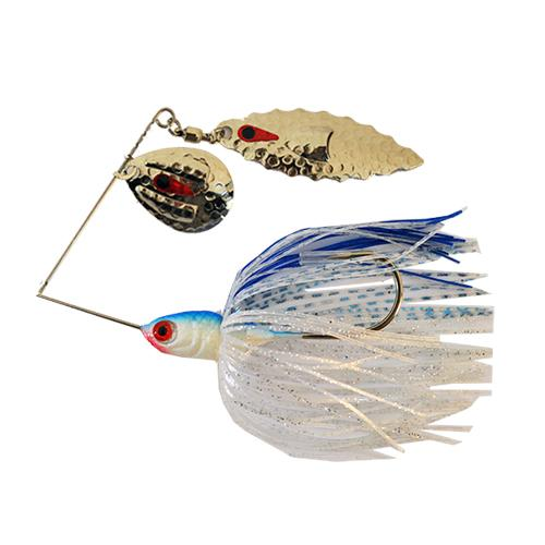 JB Lures Ventilator Tandem Willow Spinnerbait 3/8 oz Blue Shad Hard Baits