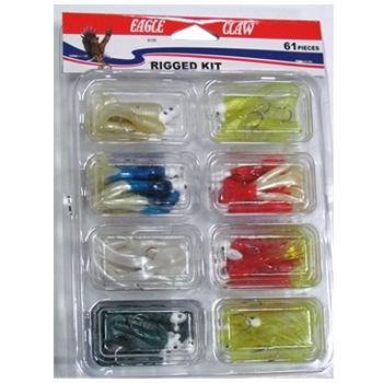 Eagle Claw 61 Piece Rigged Crappie Jig Kit