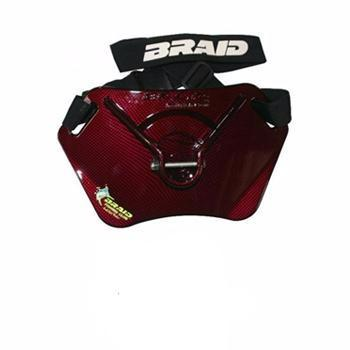Braid Sailfish Stealth Carbon Fiber Finish Belt - Gloss Red