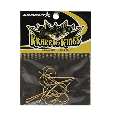 Ardent Krappie Kings Gold Aberdeen Hooks - 12 Pack #1