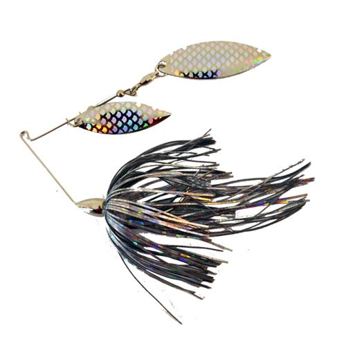 War Eagle 1/4 oz Nickel Double Willow Spinnerbait - Aurora