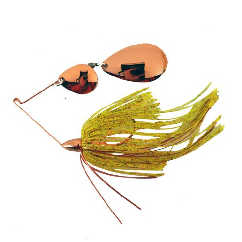 War Eagle 1/4 oz Copper Tandem Indiana Spinnerbait - Chartreuse Copper Hard Baits
