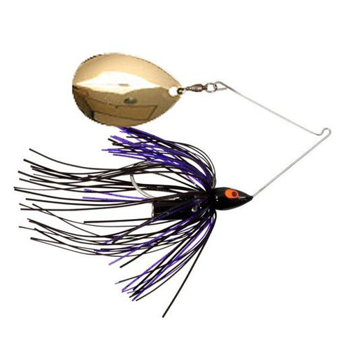 War Eagle Night Time Single Colorado Spinnerbait 1/2 oz / Black/Purple/Gold