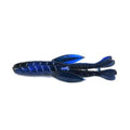 "PowerTeam Lures 4.5"" Bully Grass Devil - 6 Pack Black & Blue Swirl Soft Baits"