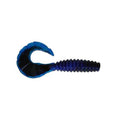 "PowerTeam Lures Grub 4.5"" - 10 Pack Black/Blue Swirl Soft Baits"
