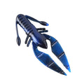 "PowerTeam Lures 3.5"" Craw D'oeuvre - 8 Pack Black & Blue Swirl Soft Baits"