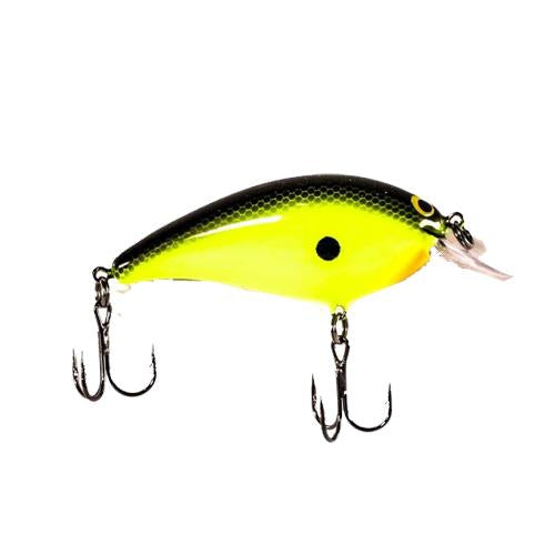 Luck-E-Strike American Original Shallow Smoothy Chartreuse Black Hard Baits