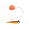 Johnson Beetle Spin with Colored Blade 1/32 oz / Black/Chartreuse/Orange Hard Baits
