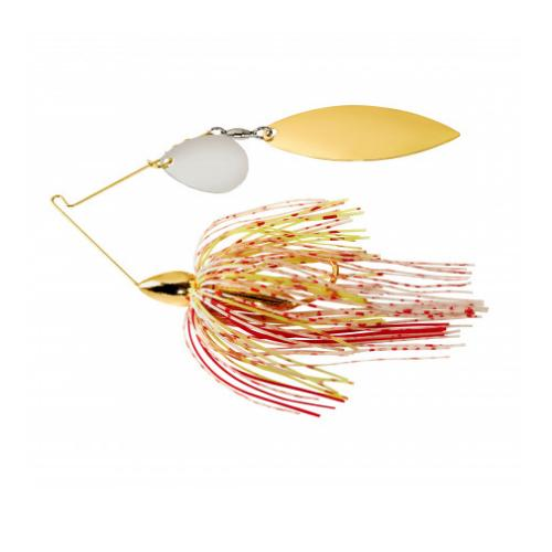 War Eagle Gold Frame Tandem Willow Spinnerbait 1/4 oz / Bleeding Shad Hard Baits