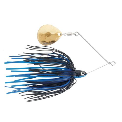 Mission Tackle Single Spins Spinnerbait 3/8 oz / Blue/Black Hard Baits