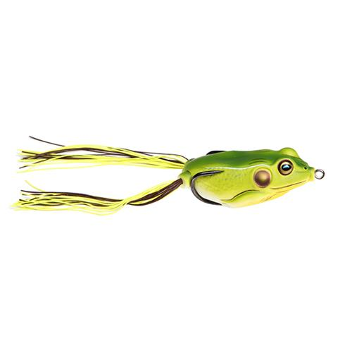 LIVETARGET Hollow Body Frog 1/4 oz / Bright Green Soft Baits
