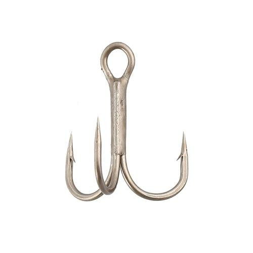 Gamakatsu Treble Hooks Round Bend Hooks 4 / Nickel Terminal Tackle