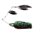 Lunkerhunt Impact Ignite Willow Leaf Spinnerbait Cabbage Hard Baits