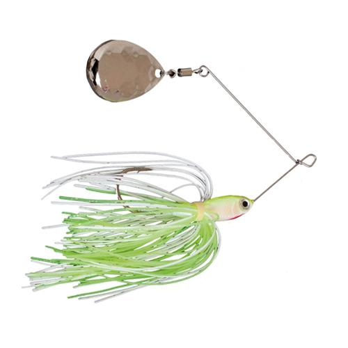 Mission Tackle Single Spins Spinnerbait 3/8 oz / Chartreuse/White Hard Baits