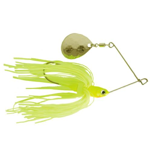 Mission Tackle Single Spins Spinnerbait 1/2 oz / Chartreuse/Lime/White Hard Baits