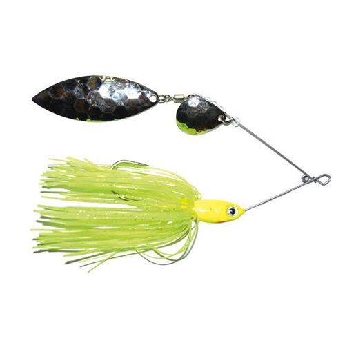 Mission Tackle Tandem Spins Spinnerbait 1/2 oz / Chartreuse Hard Baits