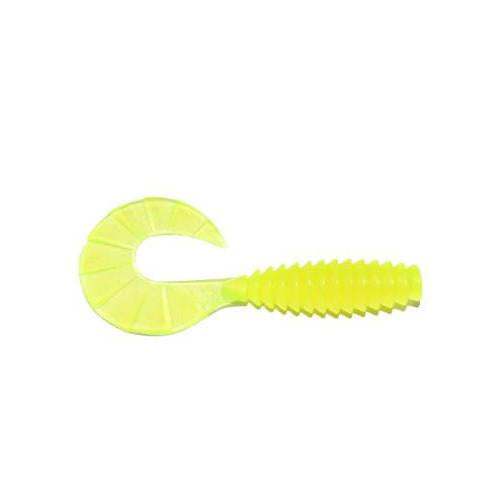 "PowerTeam Lures Grub 4.5"" - 10 Pack Chartreuse Soft Baits"