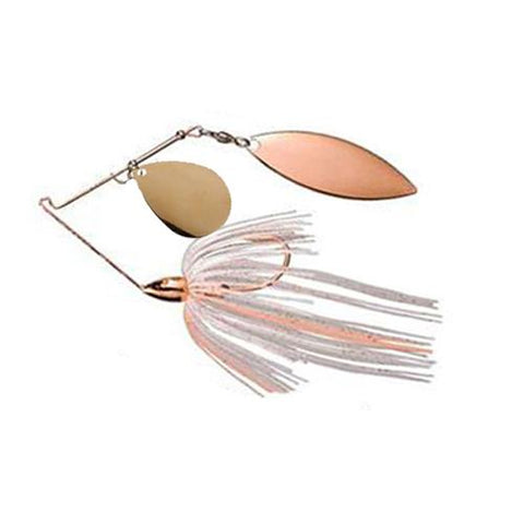 War Eagle Copper Tandem Willow Spinnerbaits 1/4 oz / Clear Copper Peach
