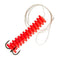 Little Stinker Dip Bait Worm Rig - Red - 3 Pack