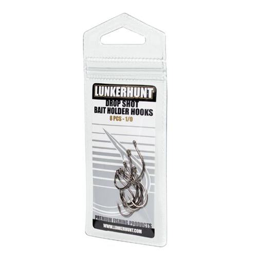 Lunkerhunt Drop Shot Bait Holder Hook - 8 Pack Terminal Tackle