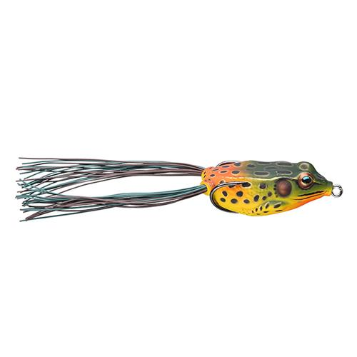 LIVETARGET Hollow Body Frog 3/4 oz / Emerald/Red Soft Baits
