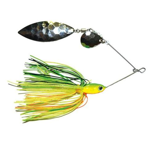 Mission Tackle Tandem Spins Spinnerbait 3/8 oz / Firetiger Hard Baits