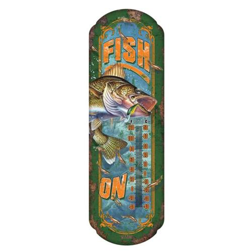 River's Edge Tin Thermometer - Fish On Accessories