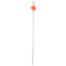 Ice Strong The Pulse Titanium Spring Bobber - Flame Red/Orange Terminal Tackle