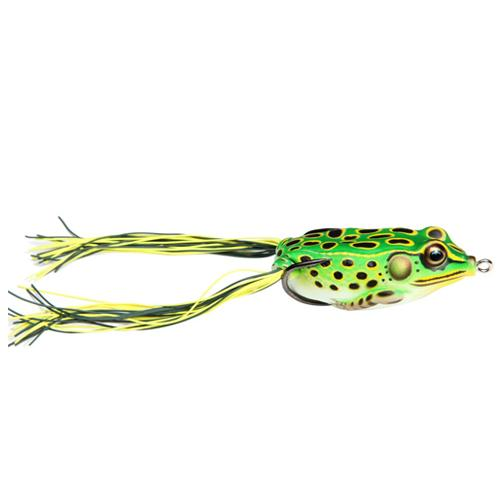 LIVETARGET Hollow Body Frog 1/4 oz / Fluorescent Green/Yellow Soft Baits