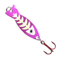 JB Lures 1/8 oz Ghost Spoon with Glo-Bones Glow Purple Hard Baits