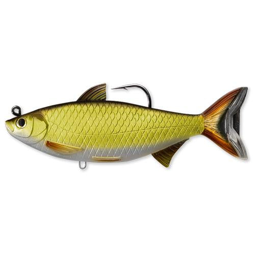 "LIVETARGET Golden Shiner Swimbait 5-1/2"" / Gold/Black Soft Baits"