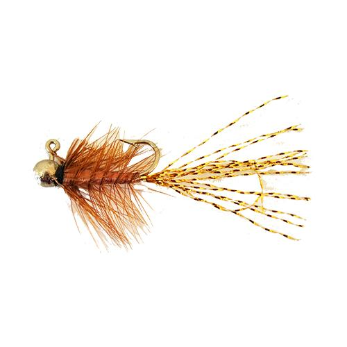 Gapen's 1/64 oz Freshwater Shrimp - Gold Tail Brown Hard Baits