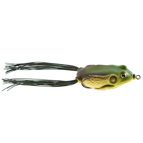 LIVETARGET Hollow Body Frog 1/4 oz / Green/Brown Soft Baits