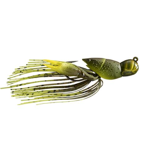 LIVETARGET 3/8 oz Hollow Crawfish Jig Green/Chartreuse Hard Baits
