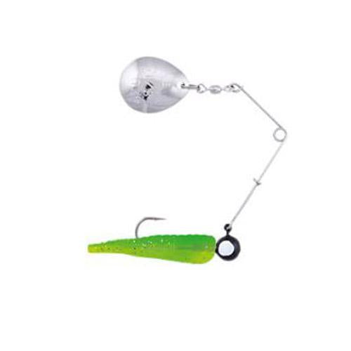 Johnson Beetle Spin with Colored Blade 1/4 oz / Green - Chartreuse Sparkle Hard Baits