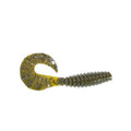 "PowerTeam Lures Grub 4.5"" - 10 Pack Green Pumpkin Soft Baits"
