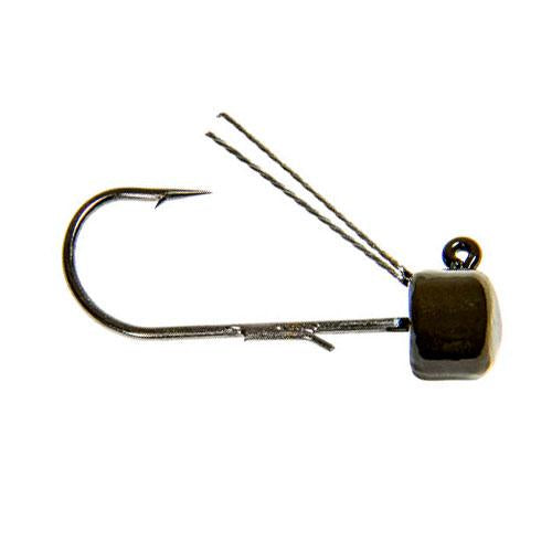 Z-Man Pro ShroomZ Weedless - 4 Pack 1/10 oz / Green Pumpkin Terminal Tackle