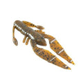 "PowerTeam Lures 3.5"" Craw D'oeuvre - 8 Pack Green Pumpkin/Copper Flake Soft Baits"