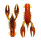 Z-Man TRD CrawZ - 6 Pack Green Pumpkin Orange Soft Baits