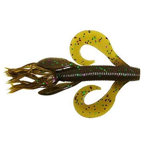 Gary Yamamoto Kreature - 7 Pack Green Pumpkin/Green Purple Flake Soft Baits