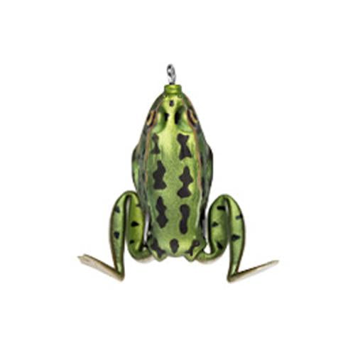Lunkerhunt Pocket Frog 1/4 oz Green Tea Soft Baits