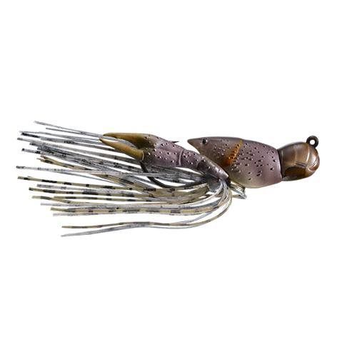 LIVETARGET 3/8 oz Hollow Crawfish Jig Grey/Brown Hard Baits